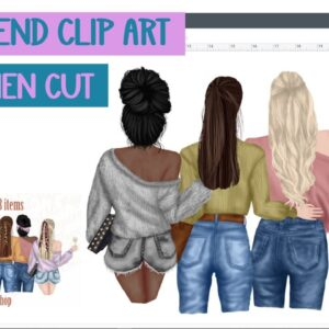 Designing your own clip art family or best friends images - Print then cut - clipart - design space