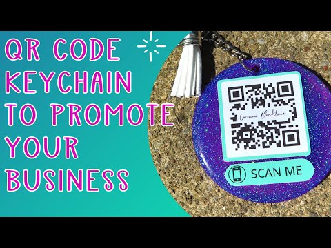 Make a QR code with Cricut to promote your business - Print then cut Q R code keychain