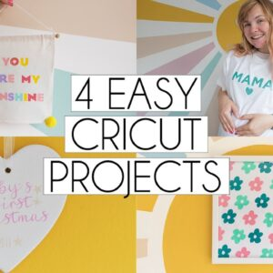 4 EASY CRICUT BEGINNER PROJECT IDEAS | Paige Joanna DIY