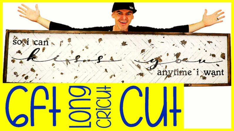 DIY Herringbone Chippy Paint Cricut Smart Vinyl Farmhouse Sign