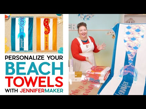 Personalize Your Beach Towels with Layered Iron On Vinyl on the Cricut Maker 3 & Explore 3