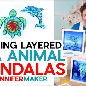 Easy DIY Coastal Home Decor | Framed Sea Animal Mandalas
