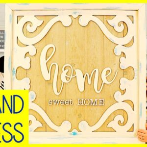 Home Sweet Home Farmhouse Sign with a Recycled Picture Frame