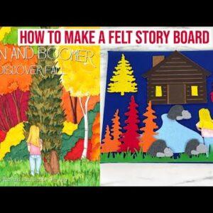 HOW TO CUT FELT WITH THE CRICUT MAKER TO MAKE A FELT STORY BOARD