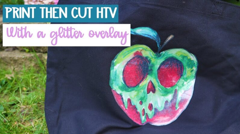 How to use print then cut HTV - iron on - Adding glitter
