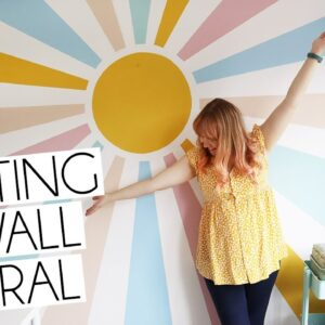 PAINTING A WALL MURAL WITH LICK PAINTS | Paige Joanna DIY