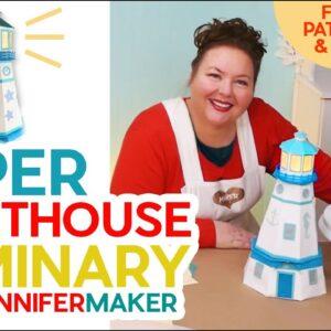 Paper Lighthouse Template: A 3D Papercraft Luminary!