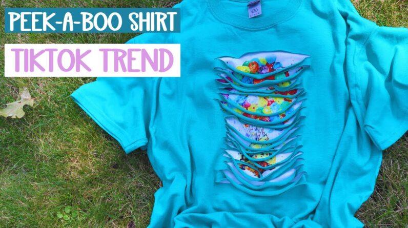 Peek a boo tshirt - How to cut a shirt - TikTok trend - Sublimation - HTV
