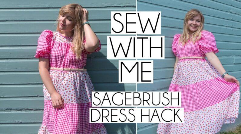 SEW WITH ME | Sagebrush Dress Hack Vlog