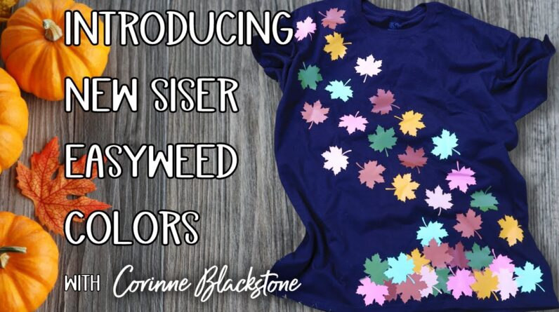 Make a fall shirt using the new line of Siser Easyweed colors How to layer HTV - Conserve materials