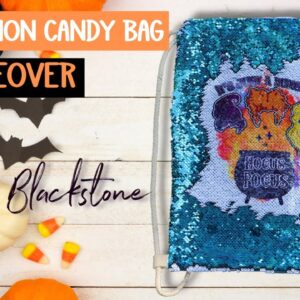 sublimate on reversible sequins - Halloween candy bag - Sublimation in Canva