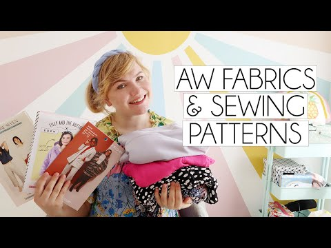 FABRIC HAUL & FAVOURITE AUTUMN WINTER SEWING PATTERNS