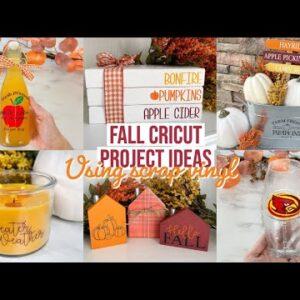 FALL CRICUT PROJECT IDEAS USING SCRAP VINYL | 7 PROJECTS