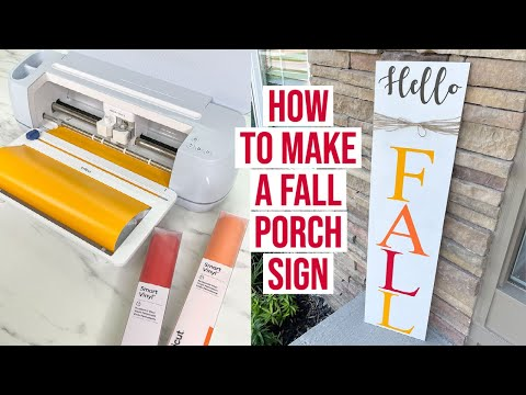 HOW TO MAKE A FALL PORCH SIGN WITH THE CRICUT MAKER 3 MACHINE