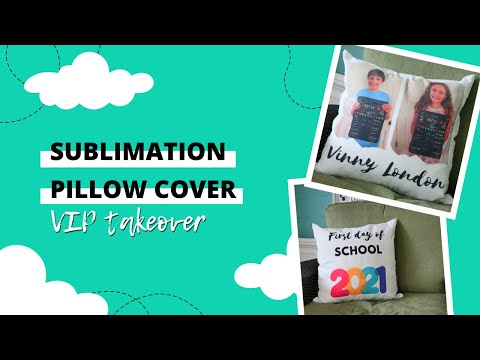 How to sublimate on both sides of a blank - Sublimation pillow cover - Back to School