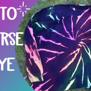 Reverse tie dye - Bleaching shirts - How to make a tie dyed shirt - Simple Tie dye techniques