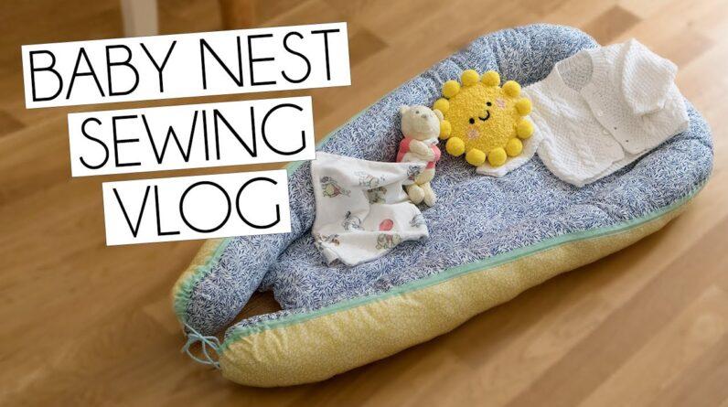 SELF MADE STOFF & STIL BABY NEST SEWING VLOG