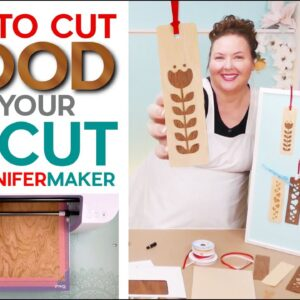 How to Cut Wood On a Cricut Explore or Maker   Wood Veneer Bookmarks!