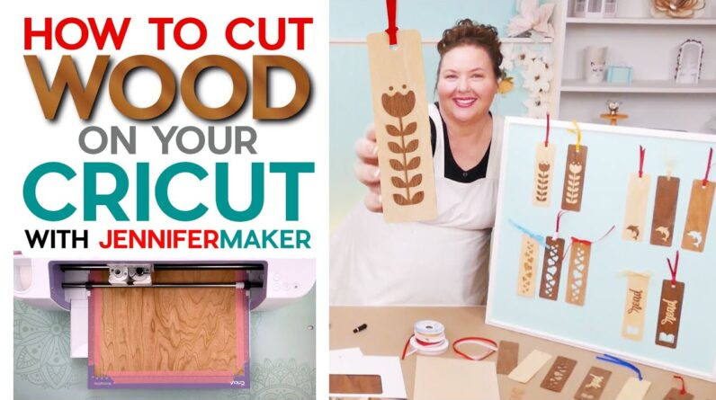 How to Cut Wood On a Cricut Explore or Maker | Wood Veneer Bookmarks!