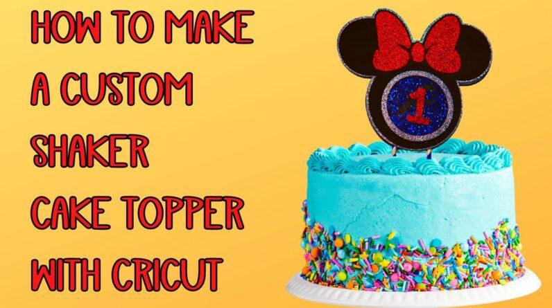 How to make a custom cake topper with cricut - Shaker style topper - cut craft foam