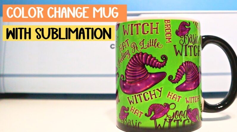 full mug wrap sublimation - Color change sub coffee cups - How to use inkscape to sublimate