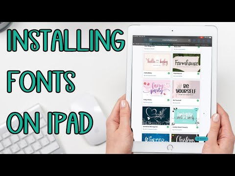 Install fonts on the iPad - How to install fronts for apple iPhone and iPad Cricut Design space app