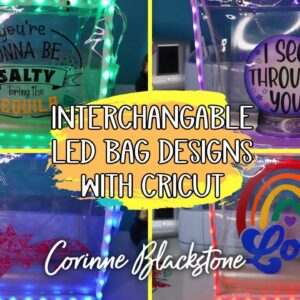 LED light up bag with removable designs for Halloween, birthdays, and more! - Transparency sheets