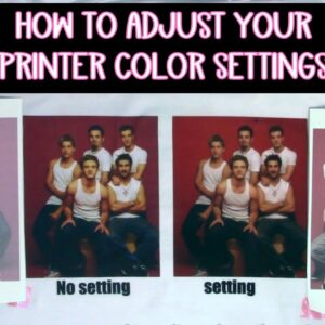 Set the color on your printer for sublimation and print then cut - fix color issues on printers