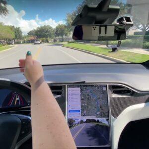 Tesla FSD Beta 10.2 in The Villages FL Model X