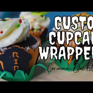 Make your own Cupcake sleeves - Cardstock - paper crafting - wrappers - Halloween decorations